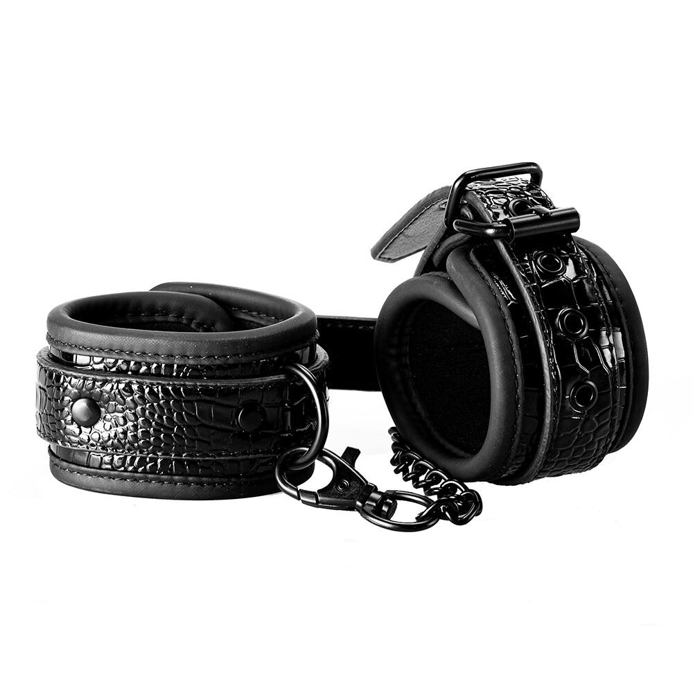 Blaze Luxury Fetish Hand Cuffs Black