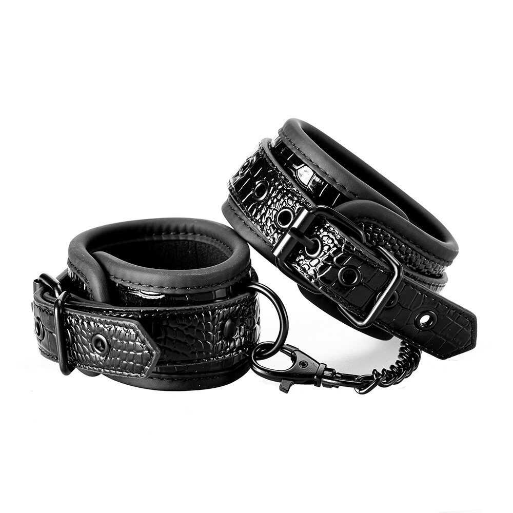Blaze Luxury Fetish Ankle Cuffs Black
