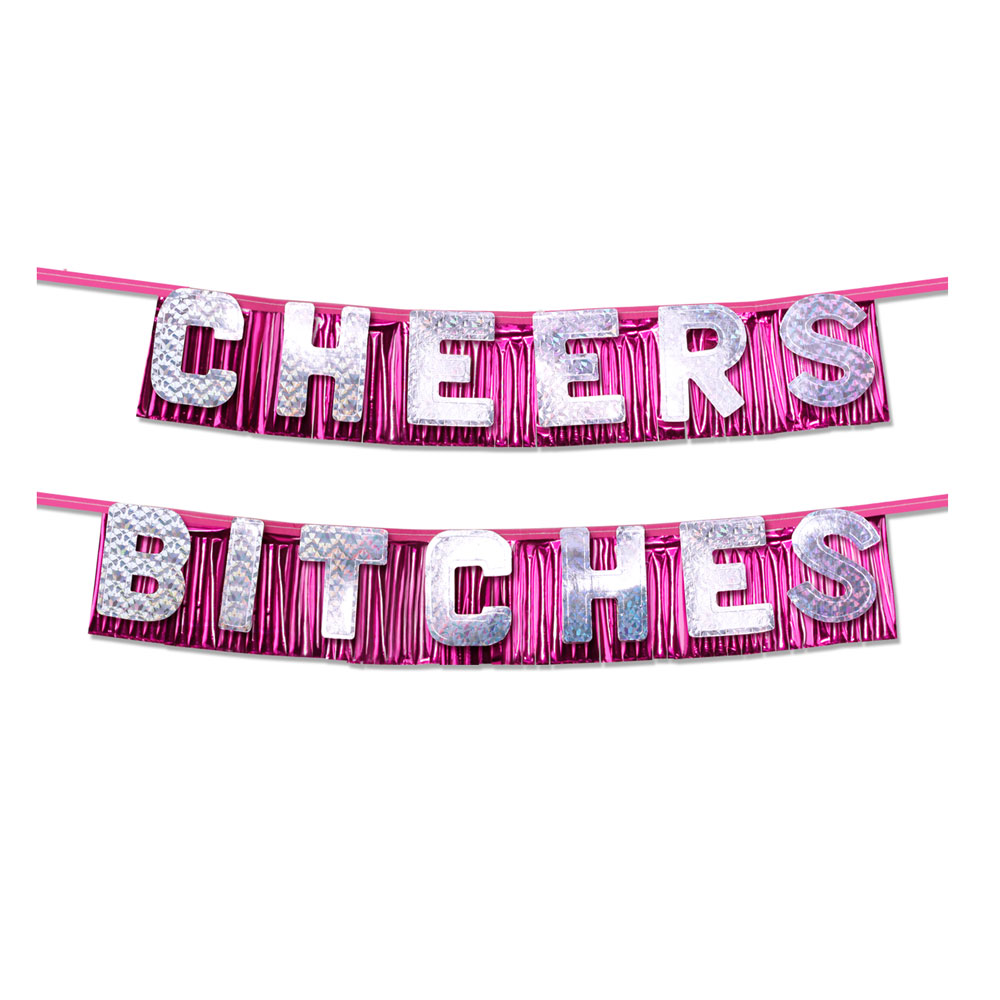 Bachelorette Party Favors Cheers Bitches Party Banner