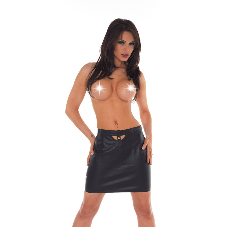Leather Bare Back Skirt